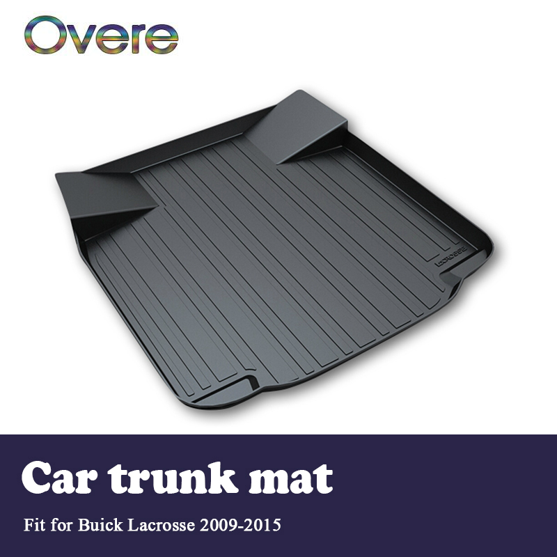 Overe 1Set Car Cargo rear trunk mat For Buick LaCrosse 2009 2010 2011 2012 2013 2014 2015 Boot Liner Tray Anti-slip Accessories предупреждающие индикаторы pawaca rear end buick