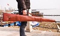 Охота натуральной кожи винтовки скольжения мягкий ружье защиты сумка чехол Carrier Gun аксессуары 128 см