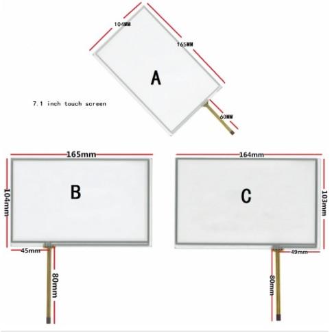 Сенсорный экран 7,1 дюйма для AT070TN83 V.1 AT070TN82 AT070TN84, сенсорная панель с цифровым преобразователем, стекло 164*103 165*104