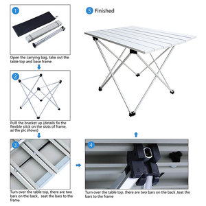Image 5 - Portable Table Foldable Folding Camping Hiking Outdoor
