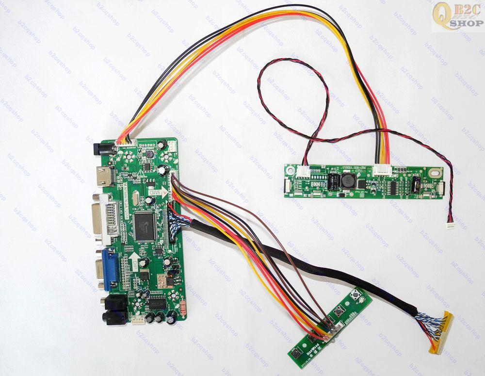 (HDMI+DVI+VGA)LCD Screen driver Controller Board Kit for M240HW01 V.D VD  1920X1080