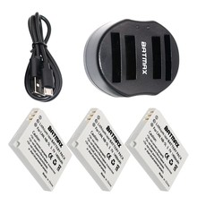 3-Pack NB-5L NB 5L NB5L Battery&Dual Charger with USB Cable  for Canon S110 SX200 SX210 SX220 SX230 IS HS IXUS 850 870 800 860