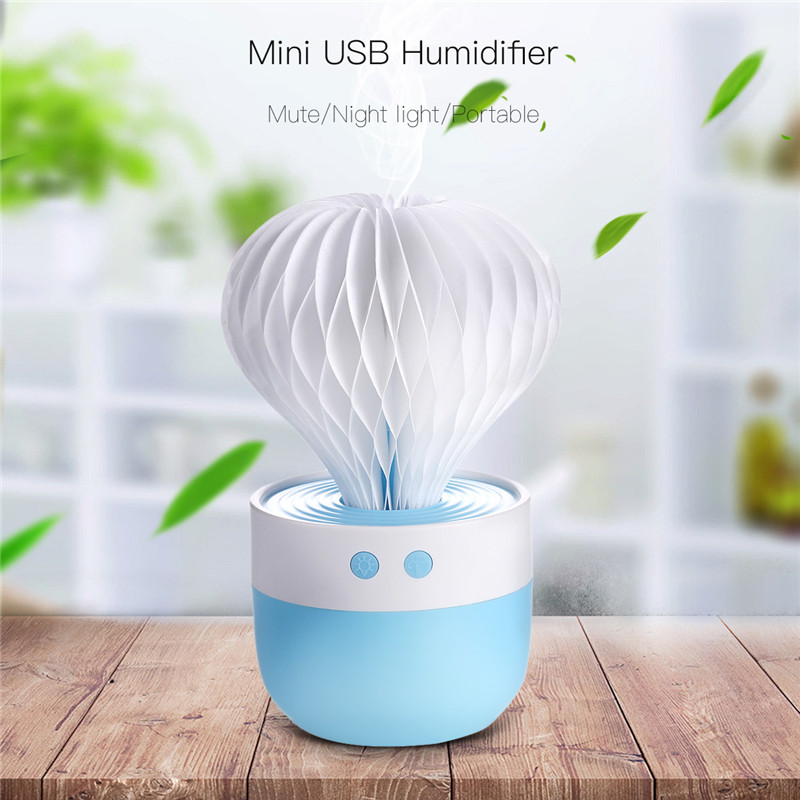 Cute Cactus Air Humidifier Ultrasonic Humidifiers 150ML Mini Mist Maker Air Purifier Aroma Aromatherapy Diffuser Humidificador