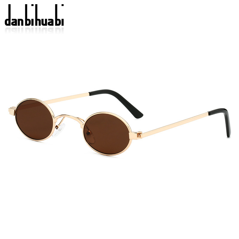 Classic Small Oval Sunglasses Women Men Steampunk Metal Frame Sun Glasses Unisex Vintage Eyewear Oval Driving UV400 Gafas De Sol 5