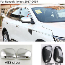 car styling decoration back rear view Rearview Side Door Mirror Cover stick trim frame 2pcs For Renault Koleos 2017 2018 2019