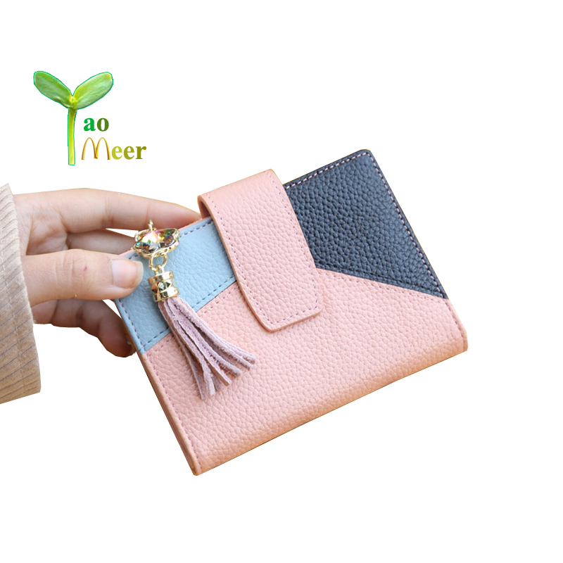 2018 new genuine leather women wallet bags fashion patchwork purse famous design tassel card holder wallets snakeskin tote bk08