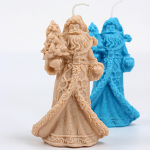 3D Santa Candle Silicone Mold DIY Handmade Soap Mould Craft Resin Clay Christmas Decorating Tool