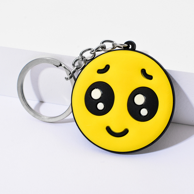 Vicney New Arrival Emoji Keychain Cool laughing Show love Emoji Key Chain Support Wholesale Cute Key Holder For Best Friends 3