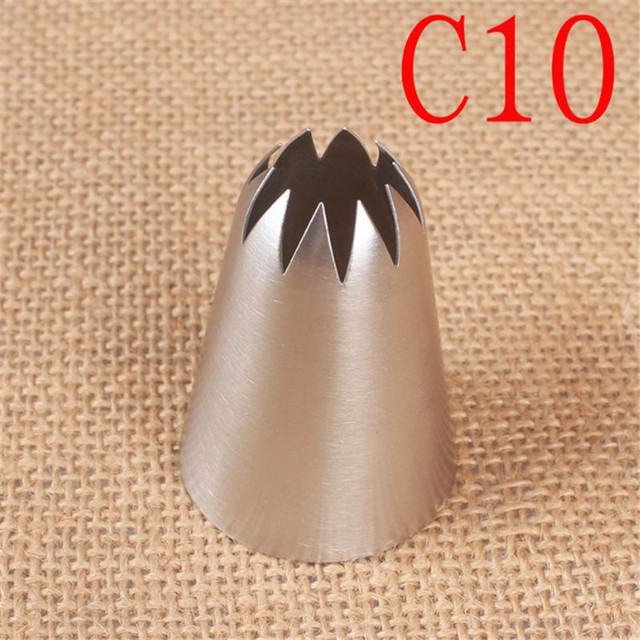 C10# Large Size Icing Piping Nozzle Cake Cream Decoration Head Bakery Pastry Tips Stainless Steel Cake Decorating Tool 1
