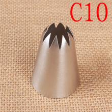 C10# Large Size Icing Piping Nozzle Cake Cream Decoration Head Bakery Pastry Tips Stainless Steel Decorating Tool