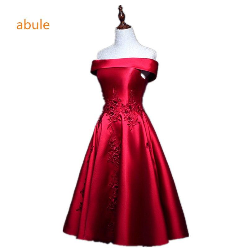 e74800896bc abule 2017 elegant evening dresses satin lace a-line prom formal party  dress vestidos de festa style dress free shipping