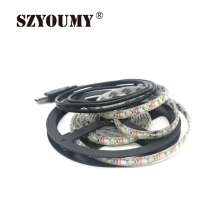 SZYOUMY 100 Meters Waterproof 3528 SMD USB LED Strip Light 60Led/M String Lamp DC 5V Tiras Fita Led Rgb Led Light Strip Tape