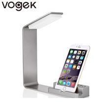 Vogek Настольный телефон стенд с 2-USB Зарядное устройство Порт светодиодный светильник 3.5 Вт интеллектуальные Напряжение идентификации Зарядное устройство для смартфонов