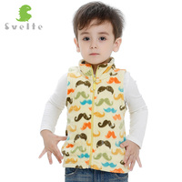 Svelte Brand Spring Fall Autumn Winter Children Boys Fleece Softshell Vest Kids Prints Waistcoat Vetement Enfant