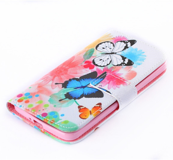 Wallet Painted Book Stand Flip Leather Case For Alcatel One Touch Pixi 4 OT5010d 5.0inch 3G Wolf Rose Owl Effiel Tower Cover
