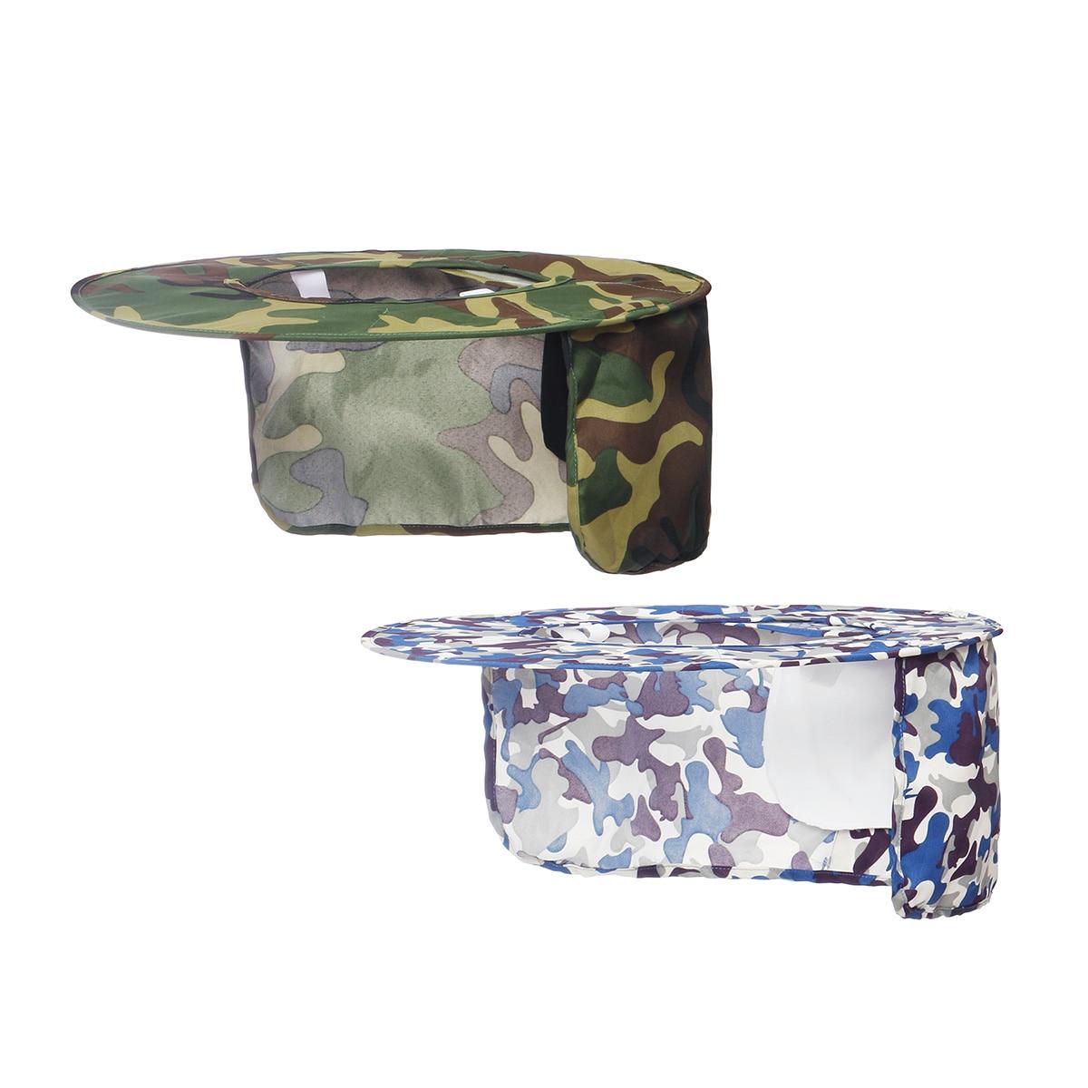 Safurance Green Camo/Blue Camo Outdoor Workplace Safety Helmets Hard Hat Cap Sun Shield Shade Head Neck Nape Protection Sunshade