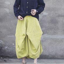 New Spring Autumn England Style Girls Vintage Skirt Elastic Waist Linen Original Pleated Long Skirt New Art Women Long Skirts