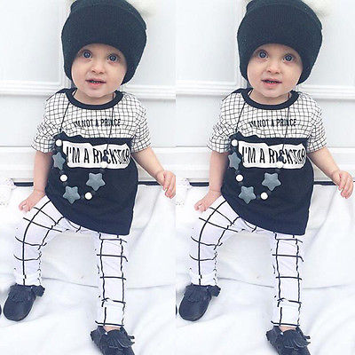 Newborn Baby Girl Boy Clothing outfits Top T-shirt pants 2pcs