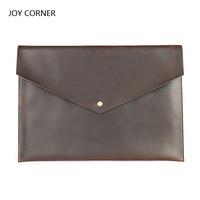 Cow Leather A4 Organizer Document Folder Bag For Documents A4 Paper Management Pastas School Folder Office