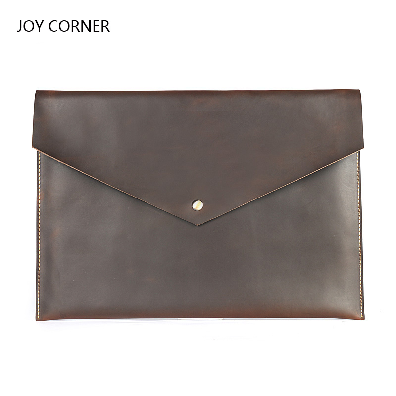Cow Leather A4 Organizer Document Folder Bag For Documents A4 Paper Management Pastas School Folder Office Buckle JOY CORNER file a4 folder organizer leather a4 folder rangement papier documents fichario escolar