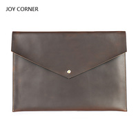 Cow Leather A4 Organizer Document Folder Bag For Documents A4 Paper Management Pastas School Folder Office