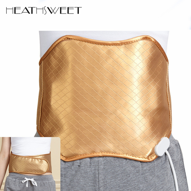 Healthsweet Wormwood Far Infrared Heating Magnetic Therapy Waist Belt Support Back Massager Pain Relief Waist Lumbar Protector double pull lumbar support lower back belt brace band waist four aluminium strips protection back waist support belt yw 01m27