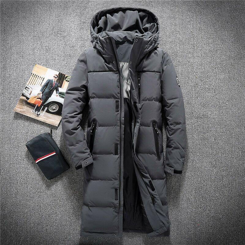 KOLMAKOV 2017 new winter high quality men's long hooded Windproof cuffs down jacket,70% white duck down coats parkas windbreaker