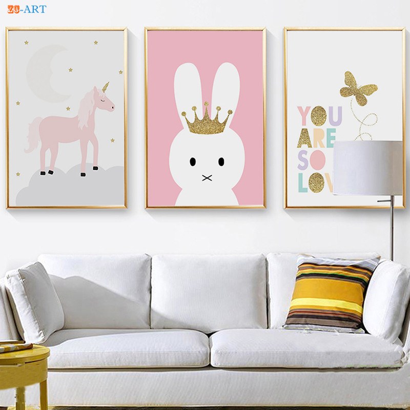 Pretty Nordic Rabbit Canvas Portray Posters and Prints Wall Artwork Image Child Room Youngsters Bed room Residence Ornament Portray & Calligraphy, Low cost Portray & Calligraphy, Pretty Nordic Rabbit...