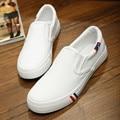 Sapatas de Lona Unisex Sapatos Baixos sapatos de Plataforma de Moda Senhoras Deslizar Sobre Mocassins Alpercatas Apartamentos dos homens do Sexo Feminino, DJ0194