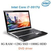 """1000g hdd 8G RAM 128g SSD 1000g HDD שחור P8-10 i7 3517u 15.6"""" מחשב משחקים מחשבים ניידים עסקיים מסך HD הנהג נייד DVD (1)"""