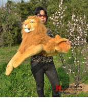 big new creative lovely lion toy stuffed simulation lying lion doll plush toy gift about 110cm 2410