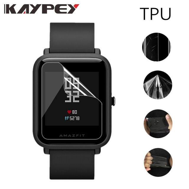 5個amazfitビット超薄型antiexplosion tpuスクリーンプロテクターxiaomi huami amazfit bipペースliteユーススマート腕時計
