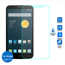 For Alcatel One Touch Pop 2 4.5 Tempered Glass Screen Protector 2.5 9h safety Protective Film on onetouch pop2 5042 5042D 5042X>