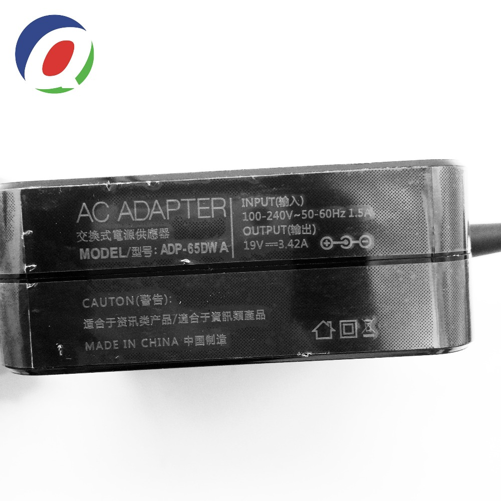 Image 2 - QINERN EU 19V 3.42A 65W 4.0*1.35 power Charger Laptop adapter For Asus Zenbook UX32VD UX305CA ux31a x201e ux305f s200e ADP 65DWLaptop Adapter   -