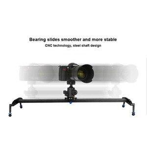 Image 5 - 60 cm/80 cm/100 cm Kamera Kaymak Profesyonel Video Parça Rulman Slider Dolly Sabitleyici raylı sistem DSLR için kamera Kamera