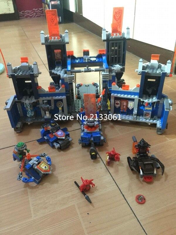 NEWFuture Nexo Knight LEPIN 14006 1115 pcs Castle Warrior Battle Building Blocks Set Minifigurese brinquedos legeod