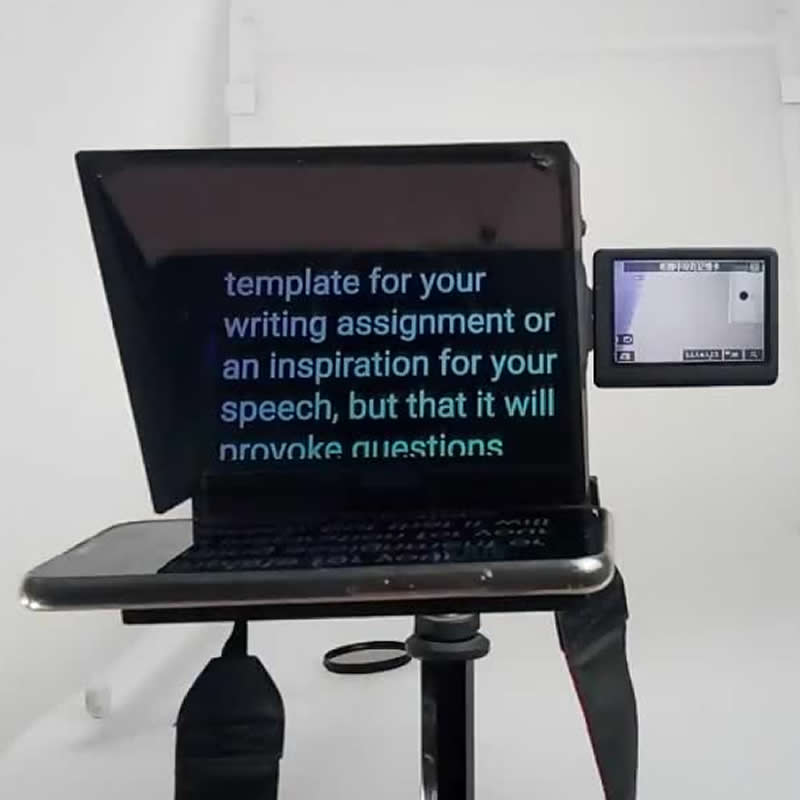 Image 3 - Upgrade Mini teleprompter  portable inscriber mobile teleprompter artifact video with remote control-in Integrated Circuits from Electronic Components & Supplies
