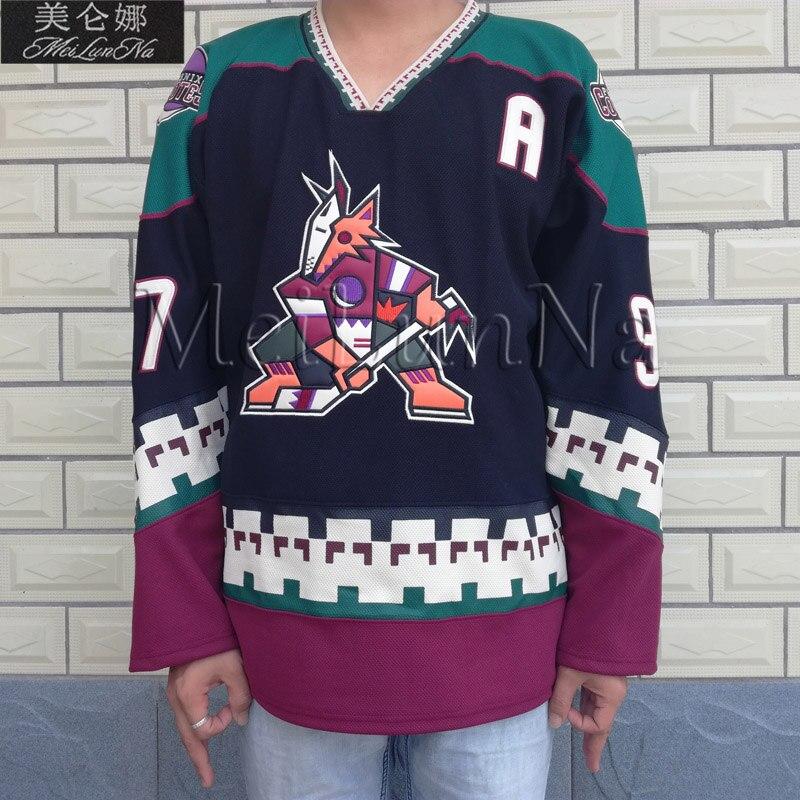 MeiLunNa Phoenix Coyotes blanc 97 Jeremy Roenick noir Hockey Jersey 0001 broderie cousu - 2