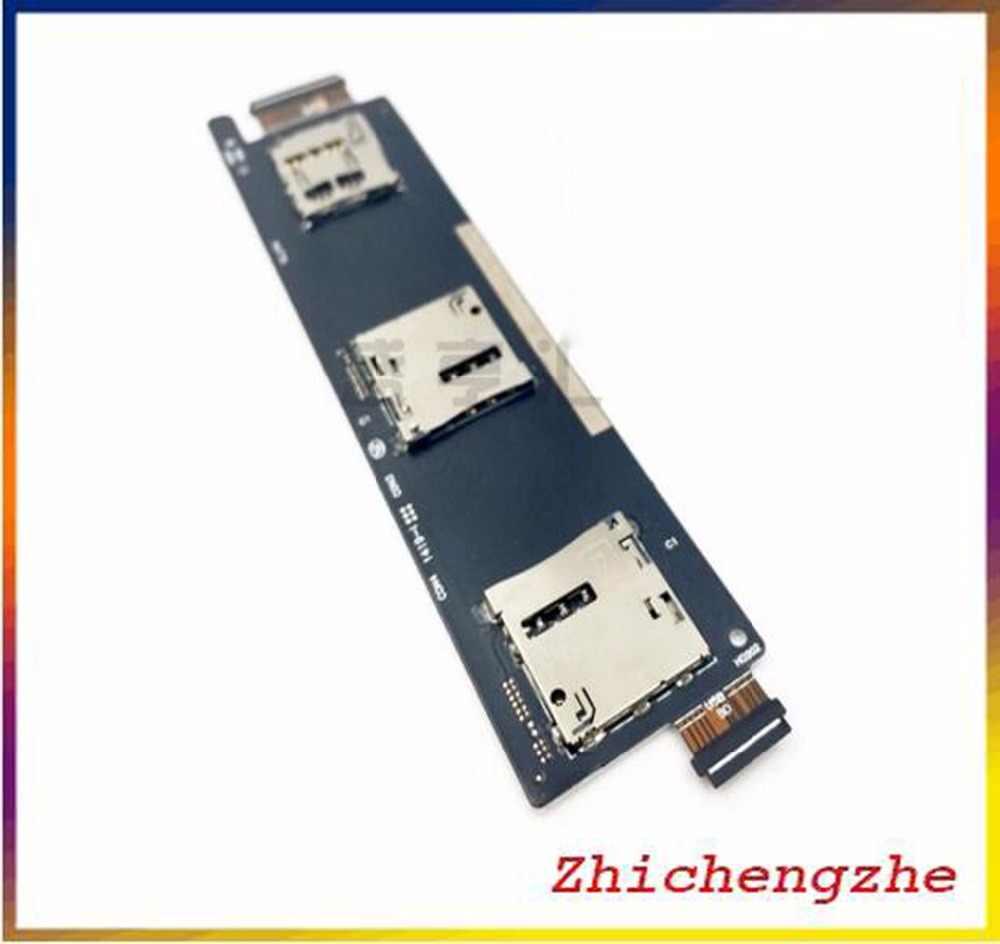 جديد سيم قارئ بطاقات حامل موصل ل Asus Zenfone 6 واحدة/المزدوج فتحة SIM فليكس كابل