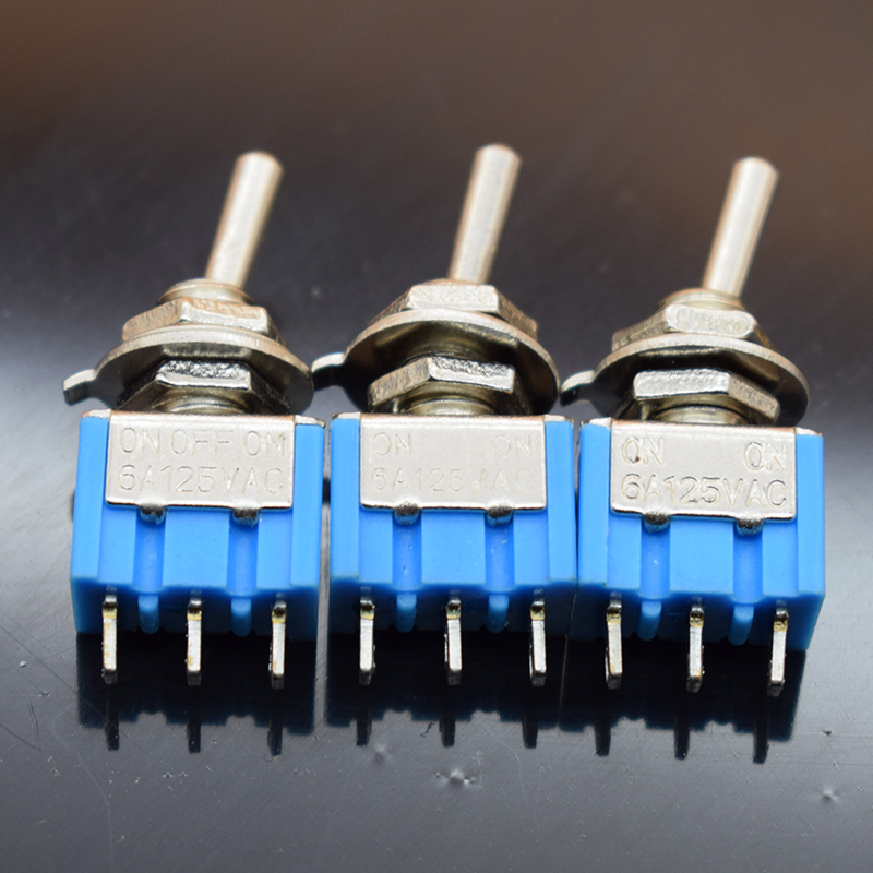 5pcs/lot Mini MTS-102 3-Pin G107 SPDT ON-ON 6A 125V 3A250VAC Toggle Switches Good Quality Free Shipping 5pc lot free shipping new long flat handle 3 pin on off on spdt cqc rohs silvery point rocker toggle switch ac 6a 125v 3a 250v