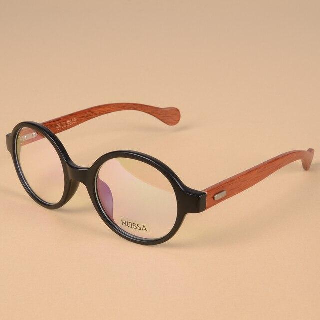 63831ffa82b Japan Handmade Wooden Vintage Round Frame Eyeglasses Women Men Original Wood  Eyewear Male Female Prescription Optical Frames