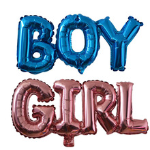 Baby Shower Balloons Blue Pink Boy Girl Foil Ballons Kids Ge