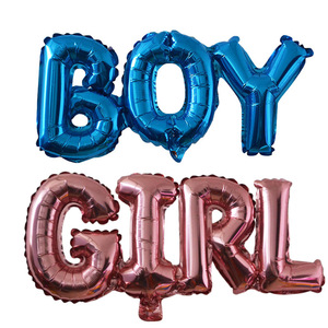 Baby Shower Balloons Blue Pink Boy Girl Foil Ballons Kids Gender Reveal First 1st Birthday Party Kids Party Decorations Supplies(China)