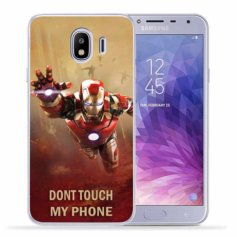 De lujo de Marvel vengadores para Samsung Galaxy J3 J4 J5 J6 J7 J8 Plus 2016 de 2017 de 2018 J2 Primer Caso cubierta funda de silicona Etui Deadpool