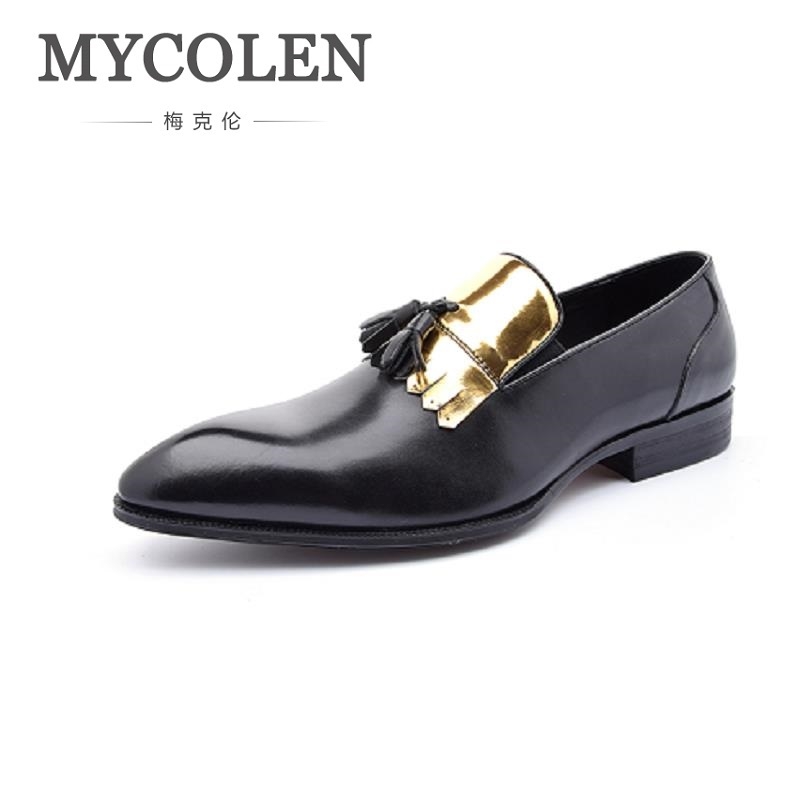MYCOLEN New Arrivals Brand Men Shoes Leisure Genuine Leather Men Shoes For Man Fashion Slip-On Loafers Flat Driving Moccasins mapleliz brand breathable slip on solid moccasins shoes for men full grain leather high quality driving soft flat men shoes
