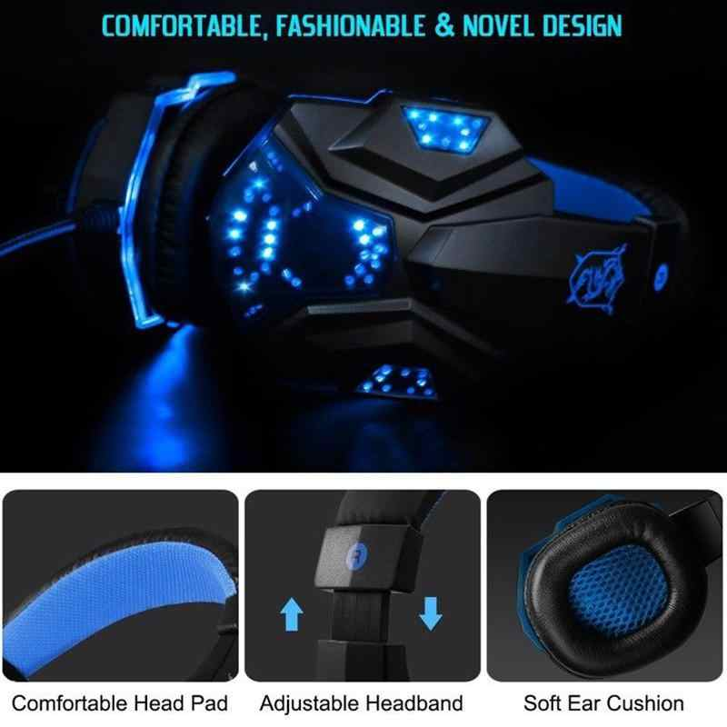 Eastvita PC780 Gaming Headset Oortelefoon Bedrade Gamer Hoofdtelefoon Stereo Geluid Headsets Met Microfoon Led Licht Voor Computer Pc Gamer