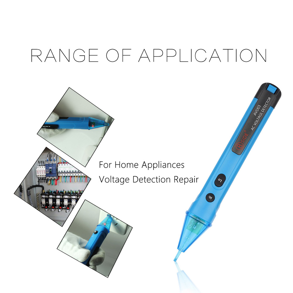 Portable Ac Voltage Test Pencil Non Contact Voltmeter Circuit Led Detector Light Alert Electric Volt Tester 12 1000v Detection In Meters From Tools