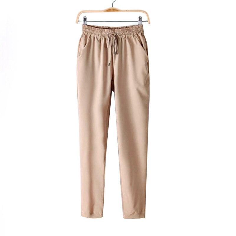 Summer Fashion Women Leisure Strappy Pants Elastic Waist