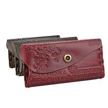 2016 Women Wallet Female Coin Purses Genuine Leather Embossing Hasp Brand Redo Va Women Elegant Female Women's Wallets