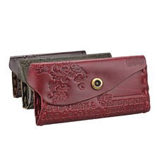 2017 Redo Va Women Wallet Female Coin Purses Genuine Leather Embossing Hasp Brand Redo Va Women Elegant Female Women's Wallets